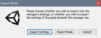 Screenshot of the Export Mode dialog.